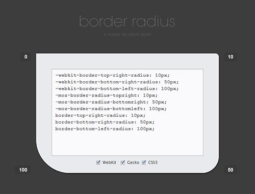 Herramienta para crear bordes redondeados con CSS