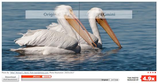 Comprimir imágenes online con JPEGmini